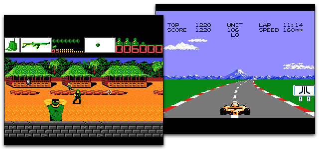 Screenshots from the Atari 7800