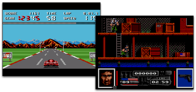 Screenshots from the Amstrad GX4000