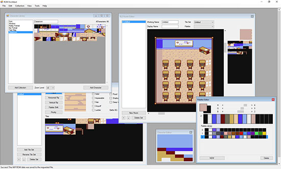 ROM Architect editor screenshot.