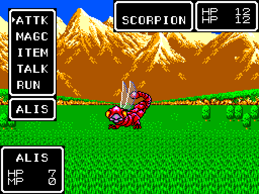 Phantasy Star screenshot.