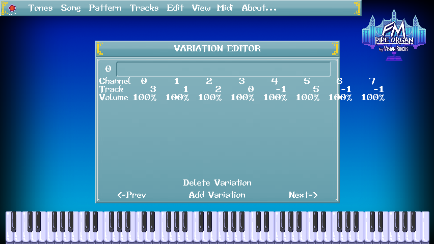 FM Pipe Organ editor screenshot