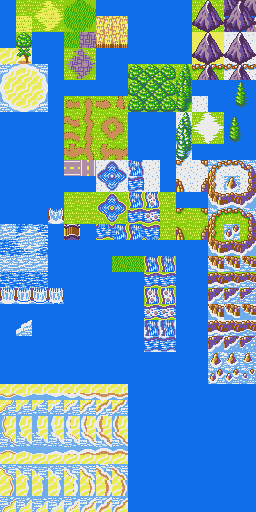 Another Star 2 overworld tileset